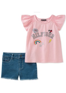 Tommy Hilfiger Girls' Toddler Denim Shorts Set