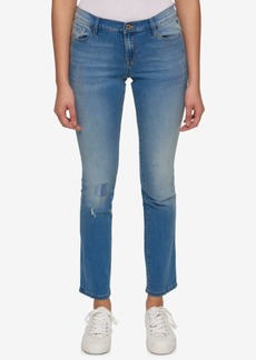 Tommy Hilfiger Greenwich Air Blue Wash Ripped Straight-Leg Jeans, Only at Macy's