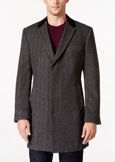 Tommy Hilfiger Grey Herringbone Overcoat