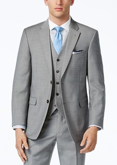 Tommy Hilfiger Grey Sharkskin Classic-Fit Jacket