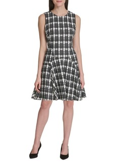 Tommy Hilfiger Grid Lace Fit-&-Flare Dress
