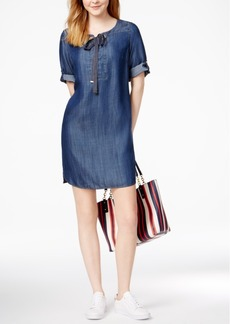 Tommy Hilfiger Grommet-Detail Shift Dress, Created for Macy's