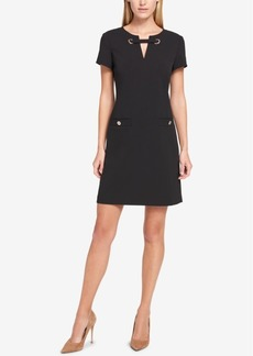Tommy Hilfiger Grommet-Embellished Pocket Dress