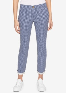 Tommy Hilfiger Hampton Gingham-Print Chino Pants, Only at Macy's
