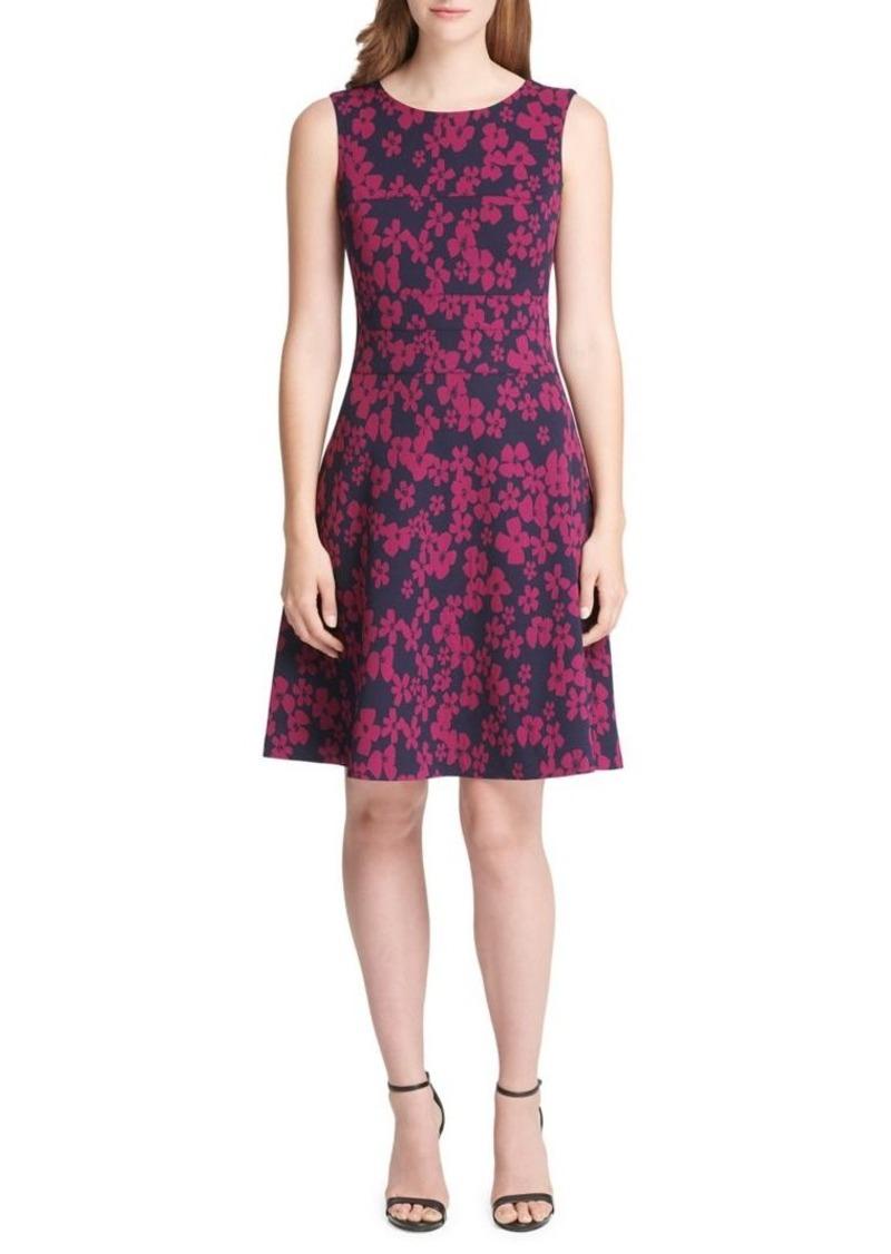 bb60bd908c7c4 Tommy Hilfiger Heartland Embroidery Scuba Crepe Jacquard Swing Dress