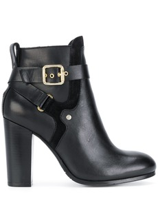 Tommy Hilfiger heeled buckle ankle boots - Black