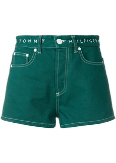 Tommy Hilfiger high waisted denim shorts - Green