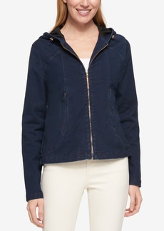 Tommy Hilfiger Hooded Denim Jacket, Only at Macy's