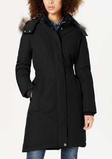 Tommy Hilfiger Faux-Fur-Trim Hooded Water-Resistant Puffer Coat