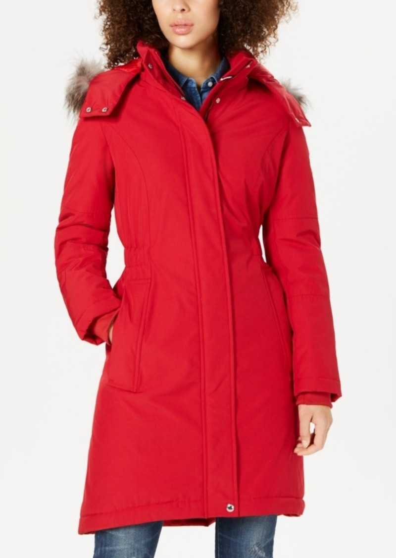 Tommy Hilfiger Hooded Faux-Fur-Trim Puffer Parka