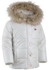 db1272ccccc8 Tommy Hilfiger Tommy Hilfiger Hooded Peacoat Puffer Coat with Faux ...