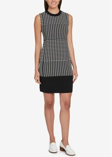 Tommy Hilfiger Houndstooth Sheath Dress, Created for Macy's