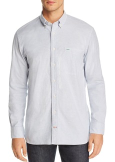 Tommy Hilfiger Icon Logo Stripe-Printed Regular Fit Button-Down Shirt