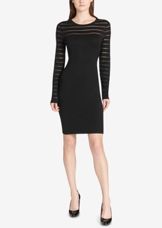 Tommy Hilfiger Illusion-Stripe Sweater Dress