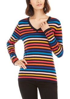 Tommy Hilfiger Ivy Striped Cotton Sweater, Created For Macy's