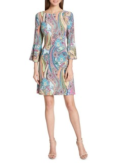 Tommy Hilfiger Jaipur Paisley Bell-Sleeve A-Line Dress