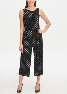 Tommy Hilfiger Jersey Dot Crop Jumpsuit