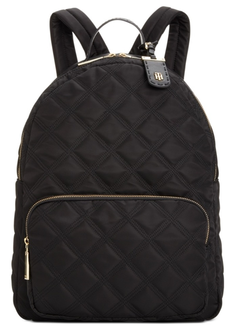 Tommy Hilfiger Julia Triple Quilted Nylon Dome Backpack