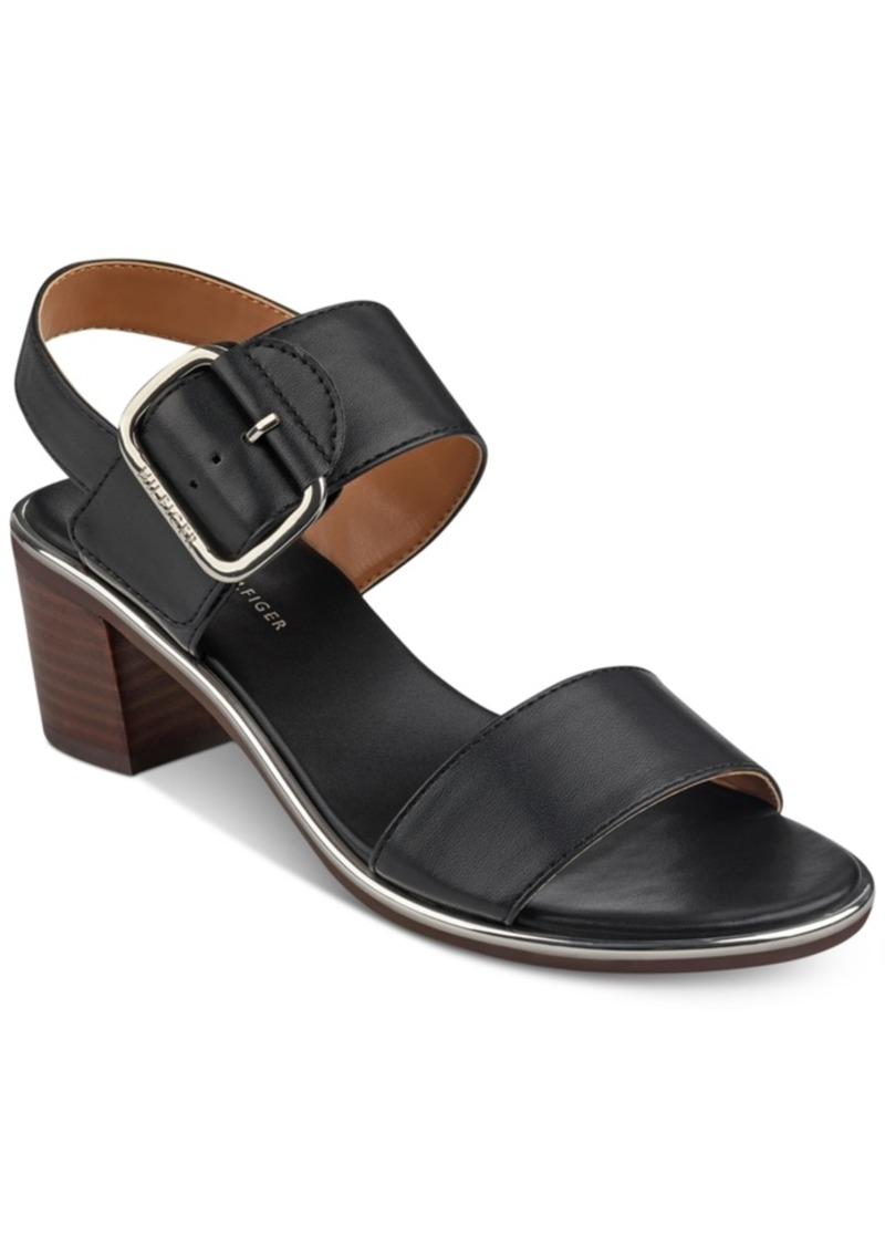5b38fc25850 Tommy Hilfiger Tommy Hilfiger Katz Block-Heel Dress Sandals Women s ...