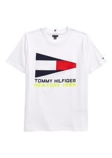 Tommy Hilfiger Kids' Flag Sailing Gear T-Shirt (Little Boy & Big Boy)