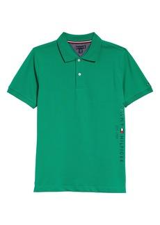 Tommy Hilfiger Kids' Short Sleeve Logo Graphic Piqué Polo (Big Boy)