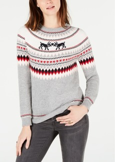 Tommy Hilfiger Kissing Reindeer Fair Isle Sweater, Created for Macy's