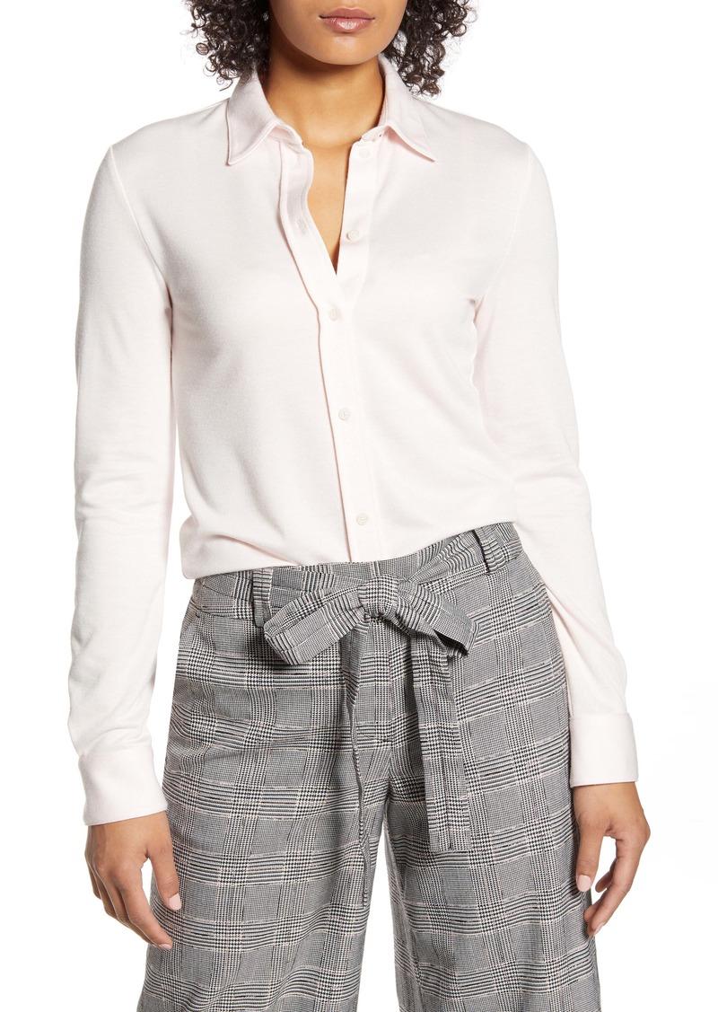 Tommy Hilfiger Knit Button-Up Blouse