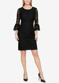 Tommy Hilfiger Lace Bell-Sleeve Dress