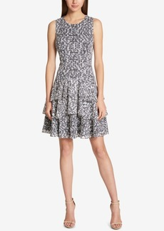 Tommy Hilfiger Lace Fit & Flare Dress, Created for Macy's