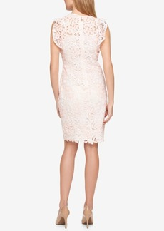 Tommy Hilfiger Lace Flutter-Sleeve Dress, Only at Macy's