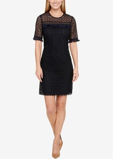 Tommy Hilfiger Lace Illusion Shift Dress
