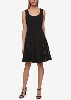 Tommy Hilfiger Lace-Inset Pleated Fit & Flare Dress
