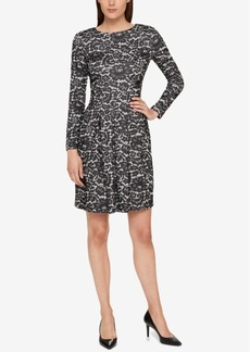 Tommy Hilfiger Lace-Print A-Line Dress