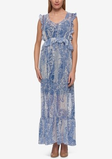 Tommy Hilfiger Lace-Up Maxi Dress, Only at Macy's