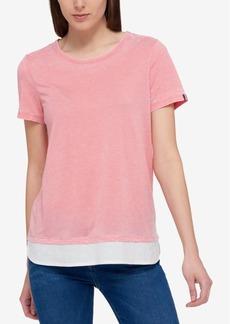Tommy Hilfiger Layered-Hem T-Shirt