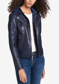 Tommy Hilfiger Layered-Look Faux-Leather Jacket, Created for Macy's