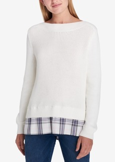 Tommy Hilfiger Layered-Look Sweater, Created for Macy's