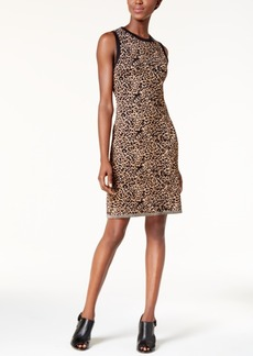 Tommy Hilfiger Leopard-Print Dress, Created for Macy's