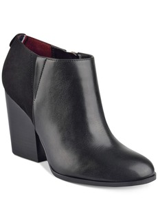 Tommy Hilfiger Leslee3 Block-Heel Booties Women's Shoes
