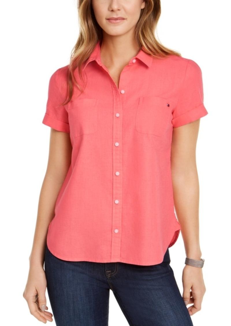 Tommy Hilfiger Linen & Cotton Camp Shirt