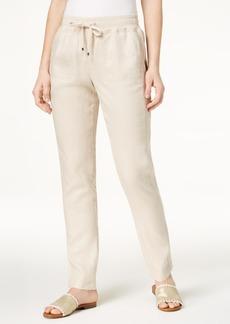 Tommy Hilfiger Linen Drawstring Pants