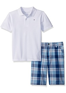 Tommy Hilfiger Little Boys' 2 Piece Polo and Plaid Short Set