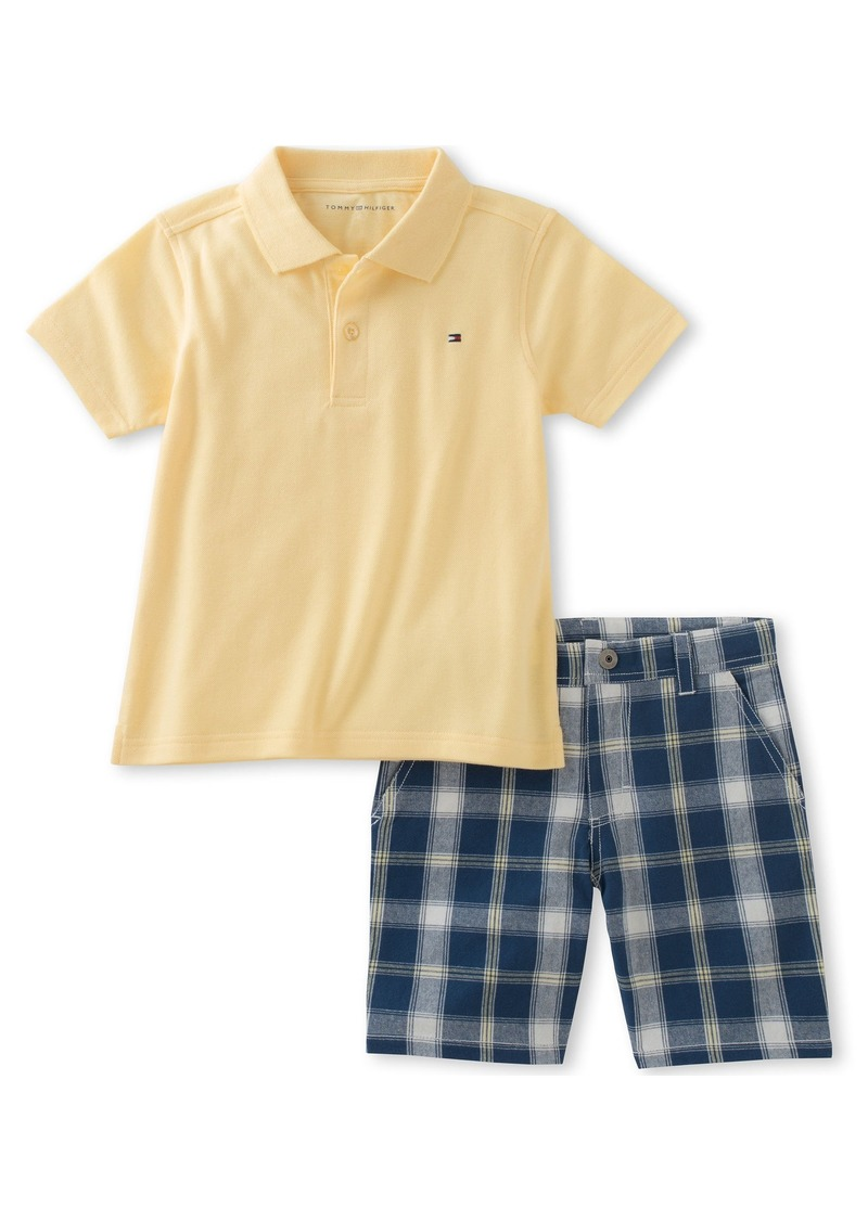 0c289ff02 Tommy Hilfiger Tommy Hilfiger Little Boys' 2 Piece Polo and Plaid ...