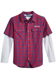 Tommy Hilfiger Little Boys Ace Plaid Cotton Shirt