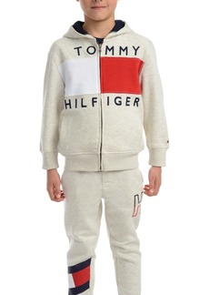 Tommy Hilfiger Toddler Boys Andrew Colorblocked Full-Zip Fleece Logo Hoodie