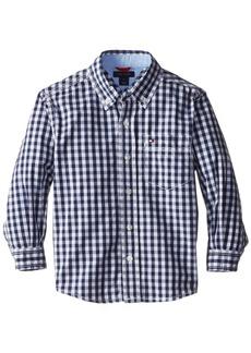 Tommy Hilfiger Little Boys' Baxter Gingham Shirt Flag Blue 5