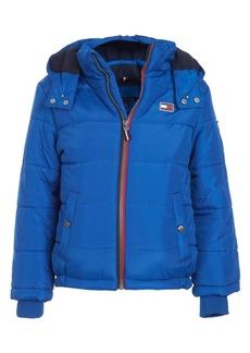 Tommy Hilfiger Little Boys Detachable Hood Puffer Jacket