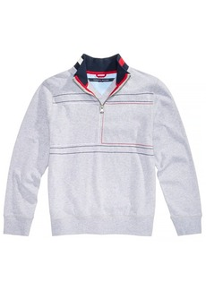 Tommy Hilfiger Toddler Boys Embroidered Quarter-Zip Cotton Pullover