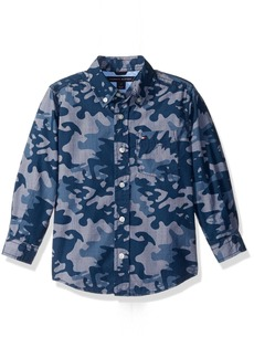 Tommy Hilfiger Little Boys Glen Camo Printed Shirt