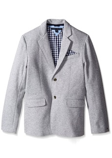 Tommy Hilfiger Little Boys' Knit Blazer with Gingham Lining